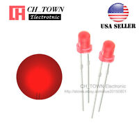 100pcs LED 3mm Diffused Red-Red Round Top F3 DIP Light Emitting Diode LED USA