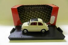 BRUMM 1:43 AUTO DIE CAST FIAT 500F CHIUSA 1965 AVORIO ANTICO IVORY  ART R455-04