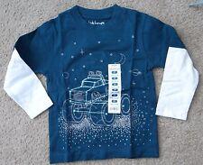 NWT KIDS KORNER boy red or blue w color block long sleeve car T-shirt,2T,3T,4T
