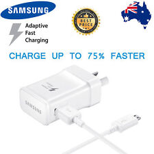 GENUINE SAMSUNG 9V ADAPTIVE FAST AC Wall Charger Cable For S7 S6 Edge + Note 4 5