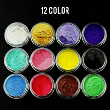 12 Color Set Mica Pigment Powder Perfect for Soap Cosmetics Resin Colorant Dye//