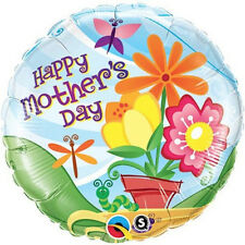 """MOTHER'S DAY PARTY SUPPLIES 18"""" DAISIES & HEARTS QUALATEX ROUND SHAPED BALLOON"""