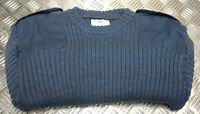 Genuine British RAF Commando Wool Mix Jumper. Crew Neck. Very Warm All Sizes