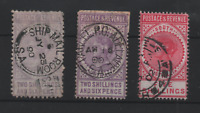 South Australia 1886 Revenue Collection used 2s 6d & 5/- WS22068