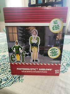 Warner Bros Photorealistic Excited Buddy the Elf Inflatable Christmas Decoration