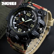 Skmei Big Dial Men Military Sport Dual Time Quartz Digital Waterproof Watch 1155