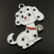 16X pop Style Silver Tone Cute Dog Pendant Charms Findings 25*24*2mm