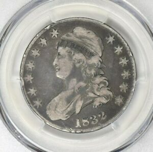 1832 PCGS F15 Capped Bust Half Dollar Small Letters Variety Type Coin