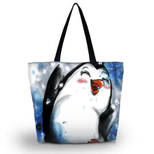 Penguin Women Beach Tote Shoulder Bag Purse Handbag Travel School Shopping Bag