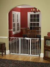 Regalo Extra Wide 58 Inch WideSpan Walk Through Safety Gate, White , New, Free S