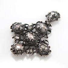 Antiker Anhänger -Silber - Diamanten Rosenschliff - 8,1g