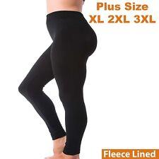 Kuda Moda Women Fleece Lined Warm Full Length Legging Pants Plus Size 1X 2X 3X