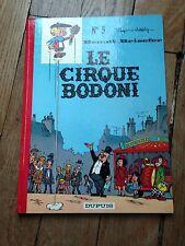 le cirque Bodoni benoit brisefer no 5 EO 1971 Peyo dos rond côte BDM 80e TBE