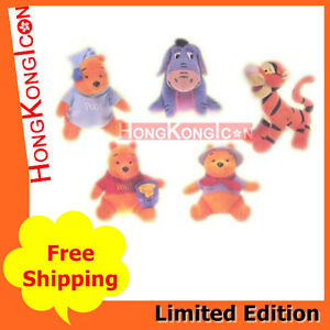 Winnie the Pooh and Friends Tigger Eeyore HK McDonald's 1998 Plush Doll Set of 5