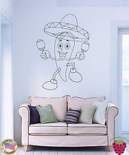 Wall Stickers Vinyl Chili Pepper Mexican Sombrero Funny For Livin Room (z1678)