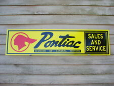 NEW! 1940's STYLE PONTIAC SALES/SERVICE SIGN/AD CHIEF LOGO/OLD SCRIPT/GARAGE ART
