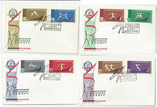 Poland 1962 FDC 7th European Athletic Championship set of 4 Covers Sc 1079 -1086