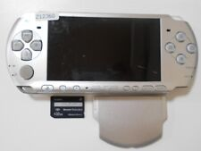 Z12360 Sony PSP-3000 console Mystic silver Handheld system Japan w/SD Cardx