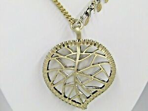 """Jessica Simpson Leaf Collection Heart 28"""" Necklace"""