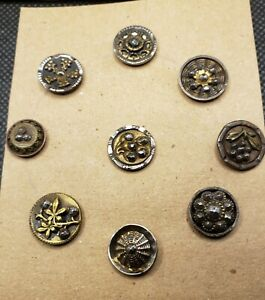 Lot of Cut steel buttons. Rare and interesting