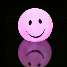 Smile Face LED 7 Color Night Light Bright Lamp Mood Room Home Bedroom Gifts
