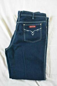 Vintage Braxton Women's Dark Wash Denim Stretch Jeans Plus Size 38 Long