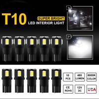 10X 12V T10 501 W5W 2825 SMD CAR LED ERROR FREE CANBUS WHITE SIDE LIGHT BULBS