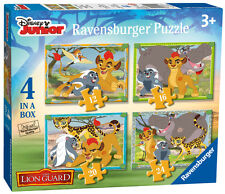 DISNEY THE LION GUARD 4 IN A BOX 12/16/20/24 PIECE RAVENSBURGER JIGSAW PUZZLE