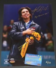 """APOLO ANTON OHNO OLYMPIC AUTOGRAPH SIGNED 11X14 MOUNTED """"OLY DREAMS '02"""""""