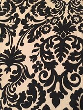 """2 Waverly Curtain Panels French Country Black On Cream Each is 48""""W x 94""""L"""