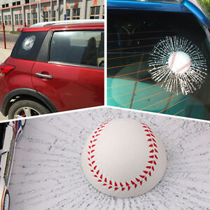 3D Baseball Ball Hits Glass Window Car Auto Decal Body Adhesive Crack Stickers