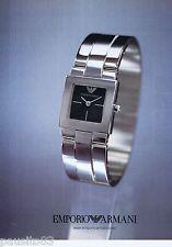 PUBLICITE ADVERTISING 115 2001 Emporio Armani montres