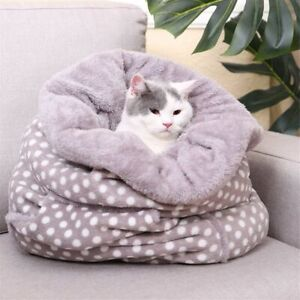 Dog Cat Bed Puppy Soft Warm Cave House Winter Sleeping Mat Pad