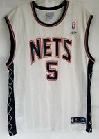 Jason Kidd #5 New Jersey Nets NBA Reebok Mens Size XL