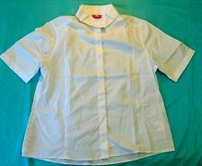 Fuller Fillies English Show Shirt White buttons short sleeve new no tags 14