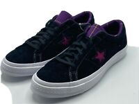 Converse Men's Size 10.5 One Star OX Black Purple Suede Plaid 166847C New!