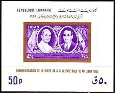 Libanon Lebanon 1965 ** Bl.28 Papst Pope Paul VI Präsident President Fuad Chehab