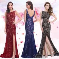 US Maxi Lace Formal Evening Dresses Long Split Mermaid Dress 08859 Ever-Pretty