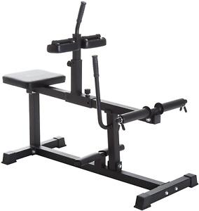 CALF RAISE EXERCISE MACHINE Adjustable Seated Strength Training Home Gym Black