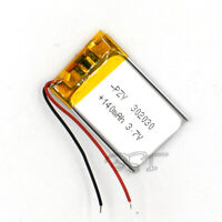 10Pcs 302030 3.7V 140mAh Lipolymer Battery Rechargeable LI-PO Cell For Watch