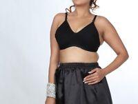Bra Full Coverage UnPadded Wire Free Comfort Black Bra Top Underwear Bra let