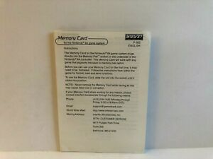 Nintendo 64 Memory Card Manual INSERT ONLY Authentic