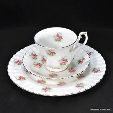 "ROYAL ALBERT - ""Forget Me Not"" Rose Pattern, Luncheon Set, Plate, cup & saucer"