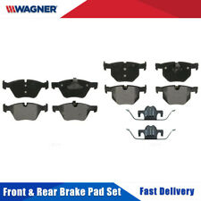Front & Rear 8 PCS Wagner Semi-metal Disc Brake Pads Set Kit For BMW 525I 2007