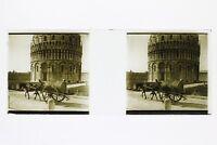 Italia Pisa snapshot Foto Placca P45L5n14 Lente Positivo Stereo