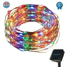 New Solar Powered String Lights 200 LED 66ft Waterproof For Home Christmas Decor