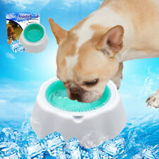 Pet Chilled Water Bowl Cool Freezable Cooling Summer Dog Cat Bowls 470ml Frozen