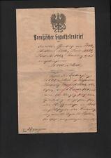 ZEITZ, Brief Preussischer Hypothekenbrief 1904,das Amtsgericht