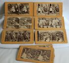 12 Stereograph Cards Tis to Laugh Comic & Groups Wedding Bedroom Kitchen Kids