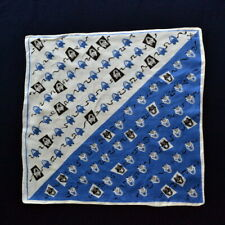 White Dot Print 100/% Silk Scarf w//Fringe 60x13 NEW WITH TAGS